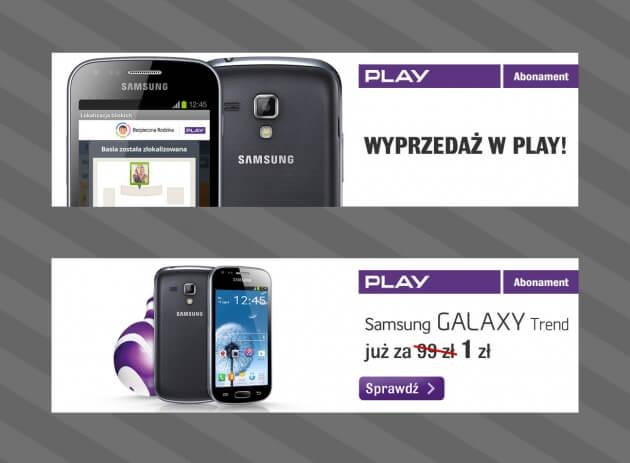 kreacja internetowa Samsung Galaxy Trend