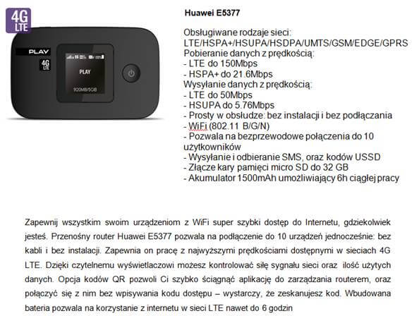 Huawei E5377 LTE