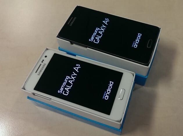 Samsung Galaxy A3 i A5 screen