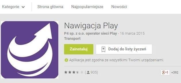 Nawigacja Play Google Play