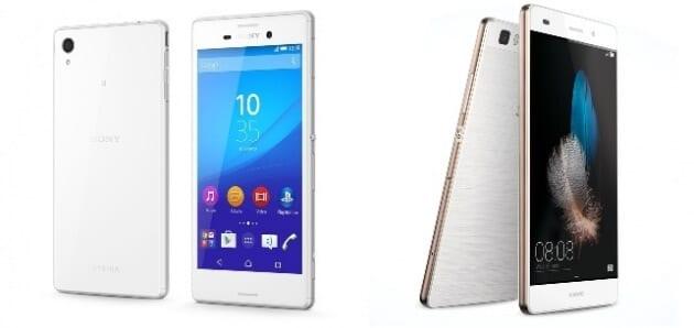 Sony Xperia m4 Aqua Huawei P8 Lite