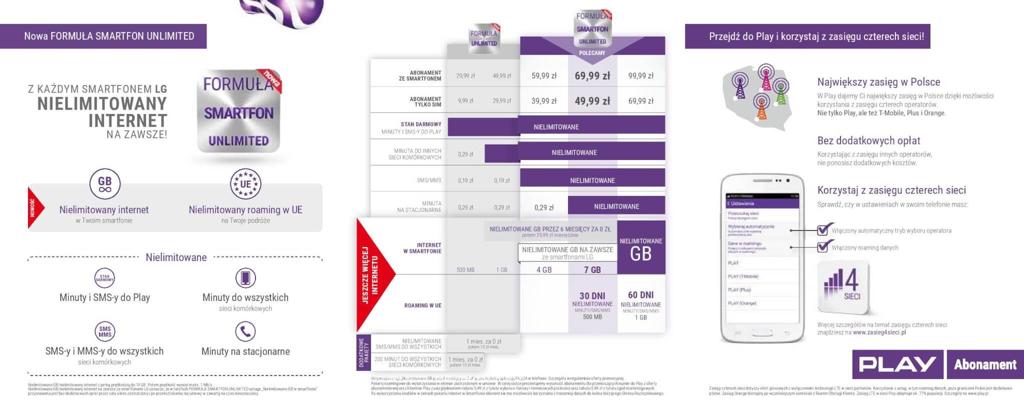Nielimitowany internet GRATIS z każdym smartfonem LG ...